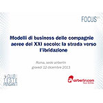 Modelli di business delle compagnie aeree del XXI secolo: la strada verso l ibridazione