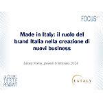 Made in Italy: il ruolo del brand Italia nella creazione di nuovi business