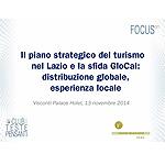 Il piano strategico del turismo nel Lazio e la sfida GloCal: distribuzione globale, esperienza locale
