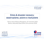Crisis e disaster recovery: osservazione, azione e risoluzione