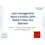 Lean management: teoria e pratica, dalla Toyota a Naar Tour Operator