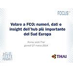 Volare a FCO: numeri, dati e insight dell'hub più importante del Sud Europa