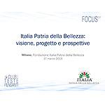 Italia Patria della Bellezza: visione, progetto e prospettive