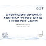 I campioni nazionali di produttivita Ceccarelli ICP, le 6 aree di business e le eccellenze di Gattinoni